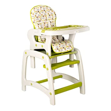 Dearbebe 3 In 1 Baby High Chair Booster Seat Toddler Chair With Eating  Table, Green