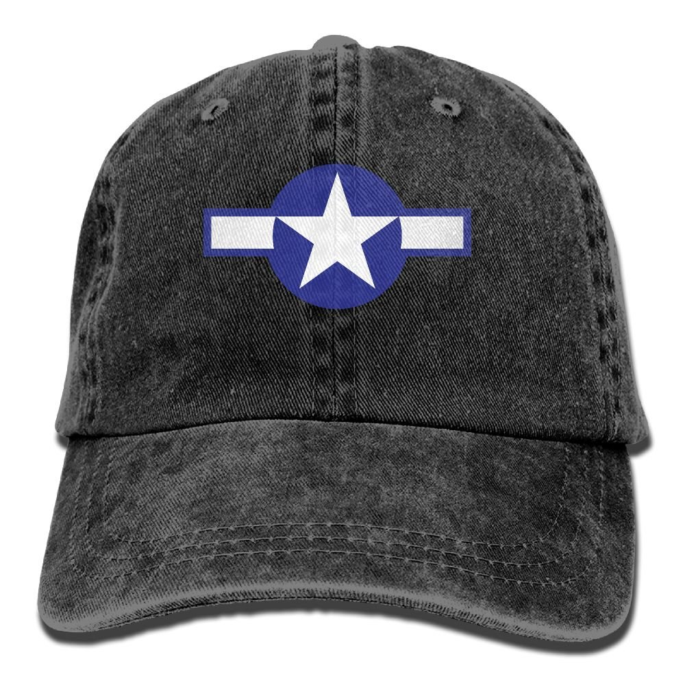 USA Air Force Logo Trend Printing Cowboy Hat Fashion Baseball Cap For Men and Women Black