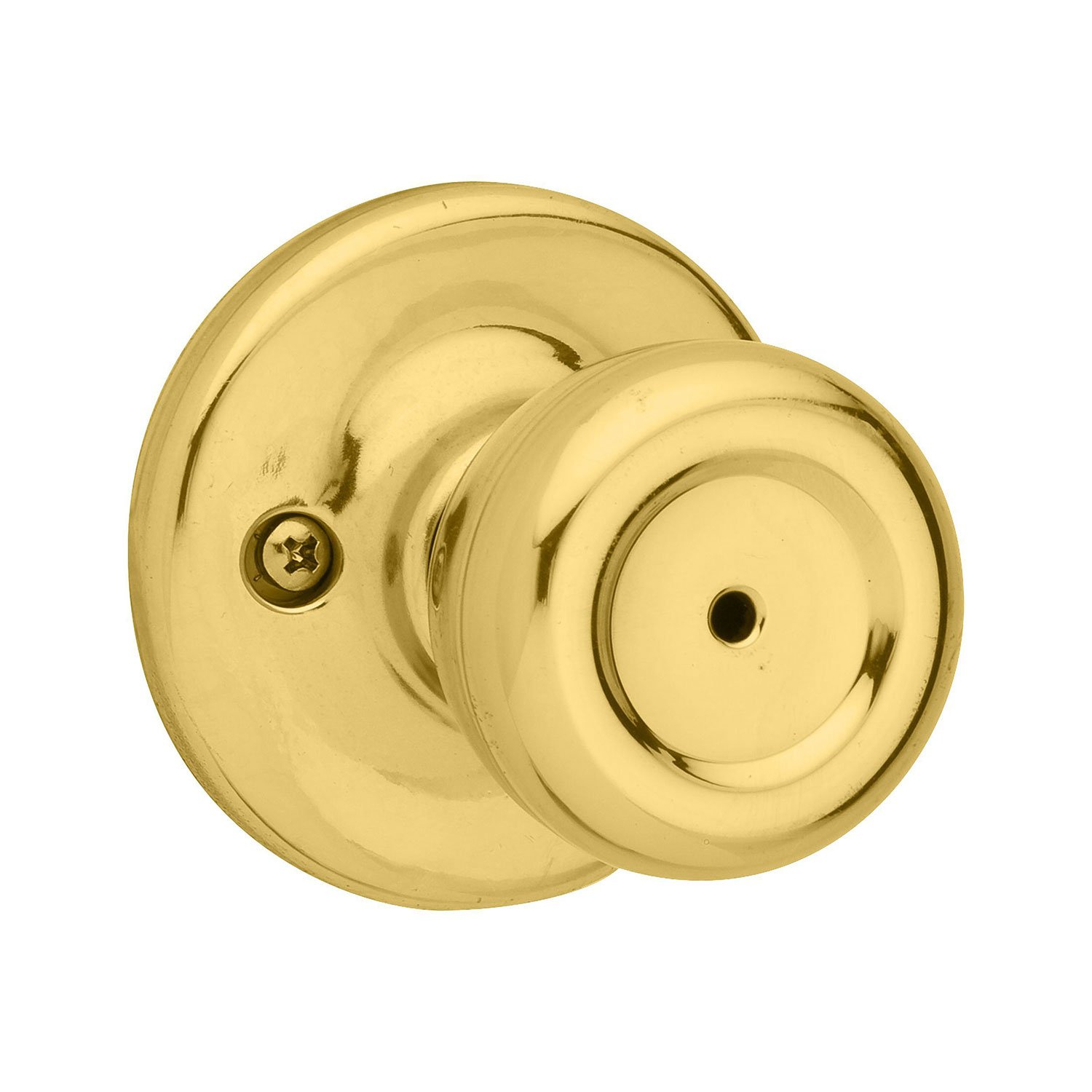 Kwikset 93001-876 Kwikset Mobile Home Bed & Bath Knob in Polished Brass