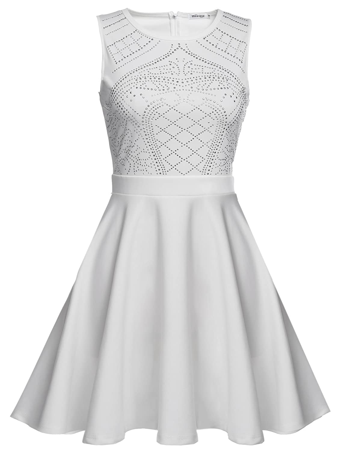 6c625035f05d Elegent sequin embellished sleeveless pleated flare A-line dress. Sleeveless,O-neck,Knee  Length,Back Zipper Great sparkly dress for every specail occasion ...