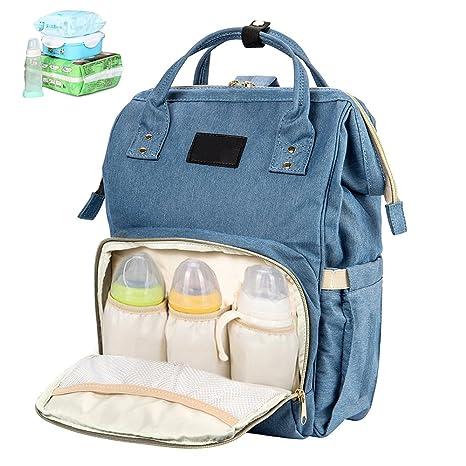 Littlegrasseu Bolso Cambiador de Pañales Mochila Maternal para Mamá Bebé para Viaje Multifuncional Impermeable con Gran Capacidad