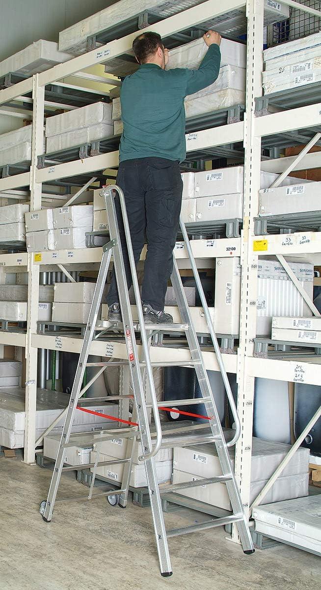 Hymer – Escalera de aluminio con gran stand Plataforma 6 peldaños): Amazon.es: Bricolaje y herramientas