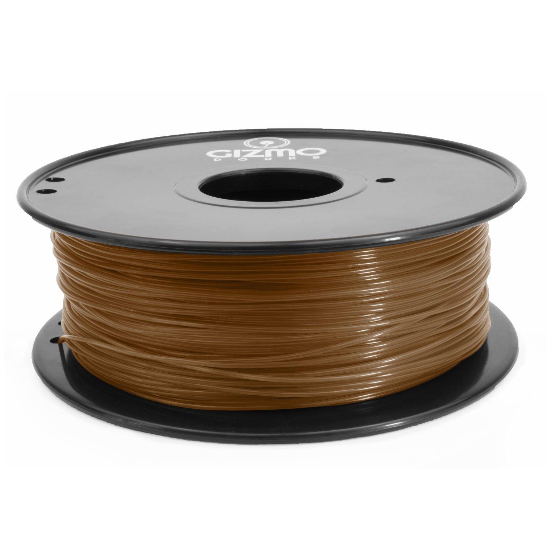 2.2lb for 3D Printers Gizmo Dorks 1.75mm ABS Filament 1kg Brown