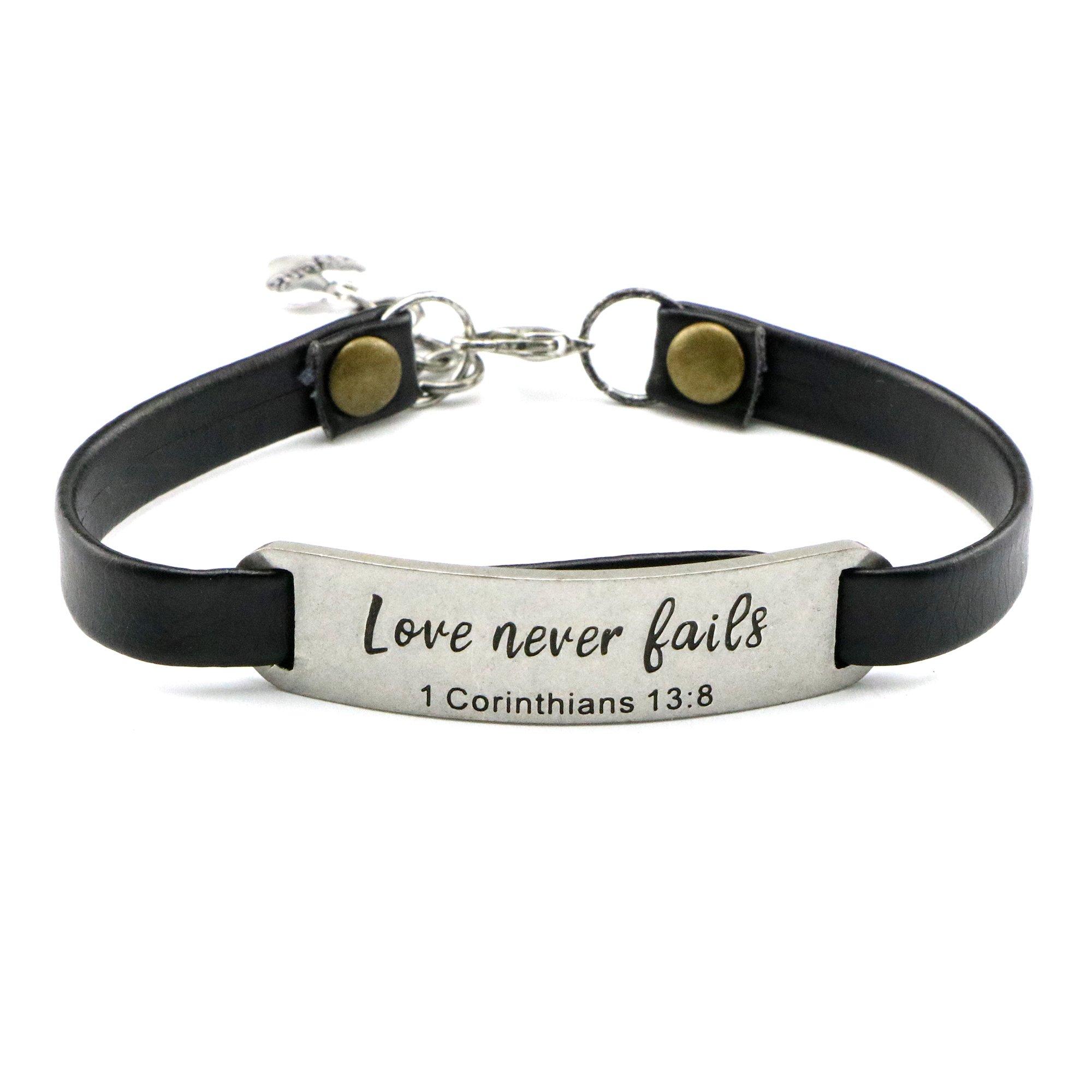 UNQJRY Mom Bracelets Inspirational for Mum Wrap Love Never Fails