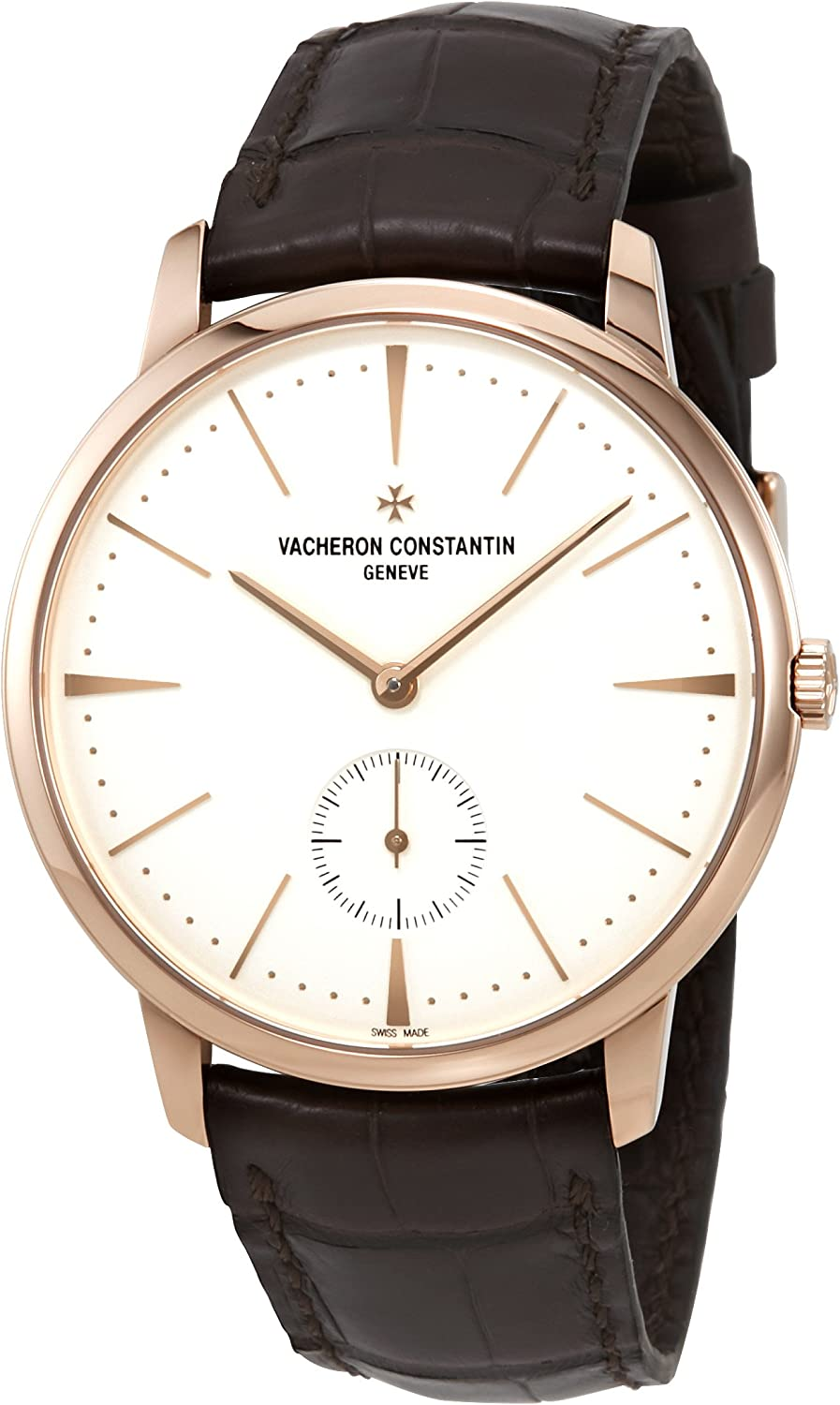 Vacheron Constantin Silver Dial 18 Carat Rose Gold Mens Watch 1110U/000R-B085