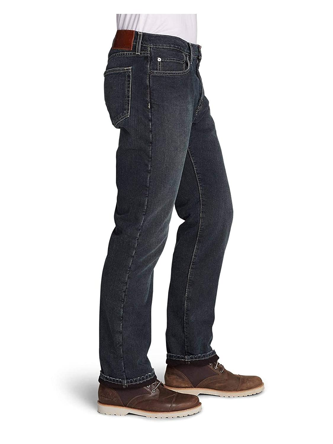 Straight Fit Eddie Bauer Mens Fleece-Lined Jeans