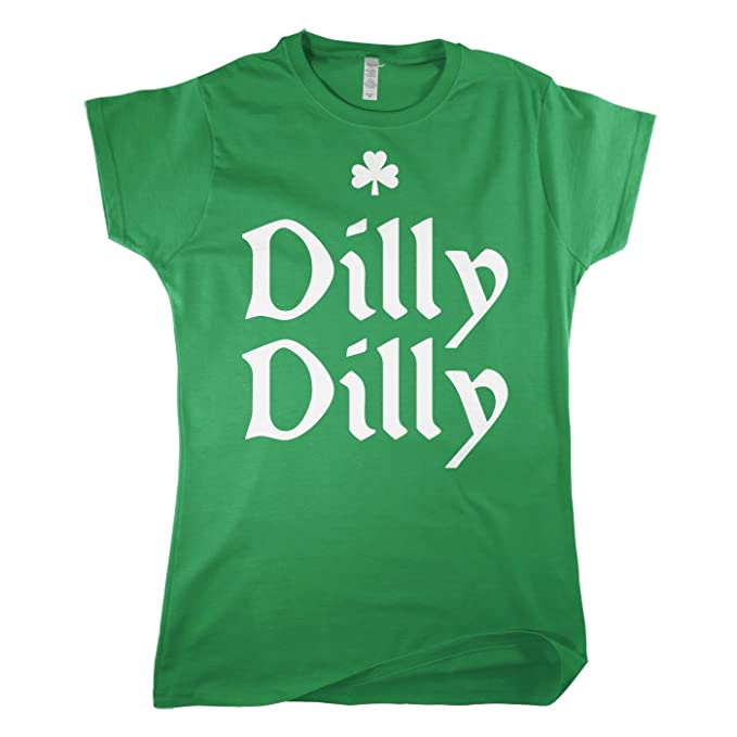 f3dc5934c8388 Amazon.com  Mixtbrand Women s Dilly Dilly St. Patrick s Day Fitted T ...