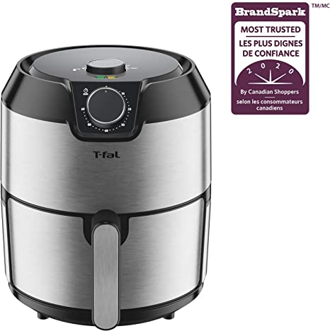 Large Dishwasher Safe 4.2L Patented Basket System Stainless Steel T-fal EY201D50 T-fal Easy Fry Prestige XL Air Fryer Low Oil