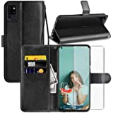 OUKITEL C21 Case, OUKITEL C21 6.4 inch Wallet Case, with Screen Protector,PU Leather Wrist Strap Card Slots Soft TPU…