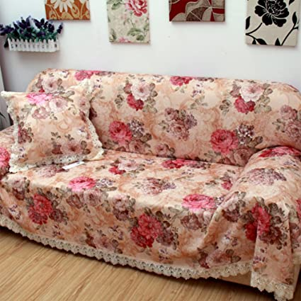 Enjoyable Amazon Com Kfhiwuehpjhd Floral Printed Slipcover Sofa Full Gmtry Best Dining Table And Chair Ideas Images Gmtryco
