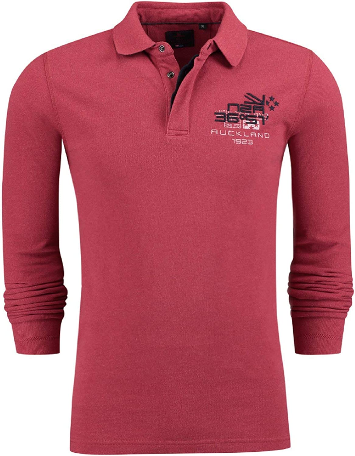 New Zealand Auckland polo manches longues nza rouge