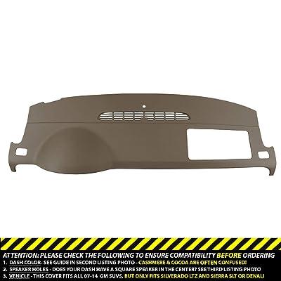 Dashskin Molded Dash Cover Compatible 07-14 GM Suvs W/O Dash Speaker In Cashmere