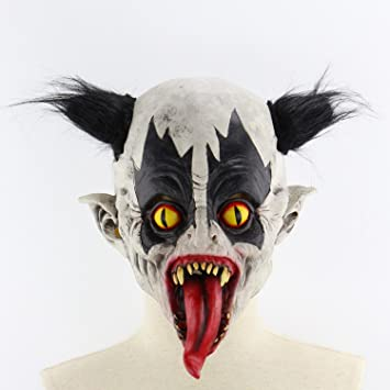 TOOGOO Mascara de Miedo Fantasma de Terror de Latex Accesorios de Baile de Bar de Escape