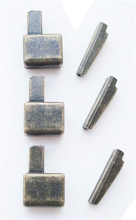 deslizadores retenedor de la cremallera kit de reparaci/ón de la cremallera 2 juegos de bronce # 5 pasador de inserci/ón de la cremallera met/álica