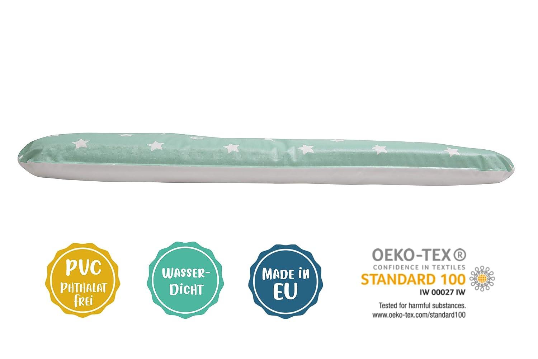 /Öko-Tex 100 weiche Wickelunterlage Wickelauflage HONEY 50 x 70 cm, Sterne grau-wei/ß abwaschbar und pflegeleicht