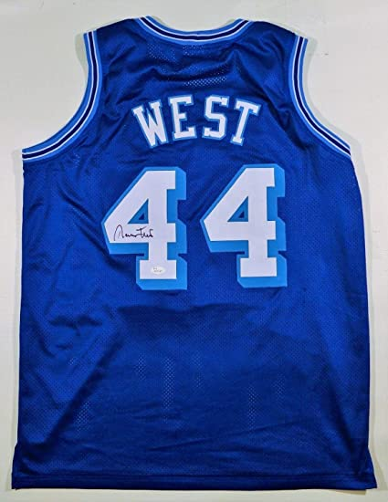 Jerry West Autographed Signed Lakers Jersey - JSA Certified at ... 44530ac1f