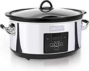 Crock-Pot 7 Quart Programmable Slow Cooker with Digital Countdown Timer|Polished Platinum