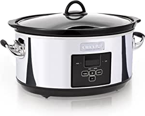 Crock-Pot 7 Quart Programmable Slow Cooker with Digital Countdown Timer|Polished Platinum