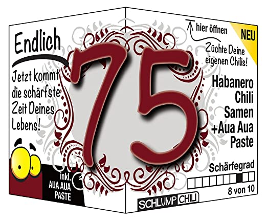 Endlich 75   Eine Tolle Geschenkidee Zum 75. Geburtstag   Ein Witziges Und  Originelles Geschenk