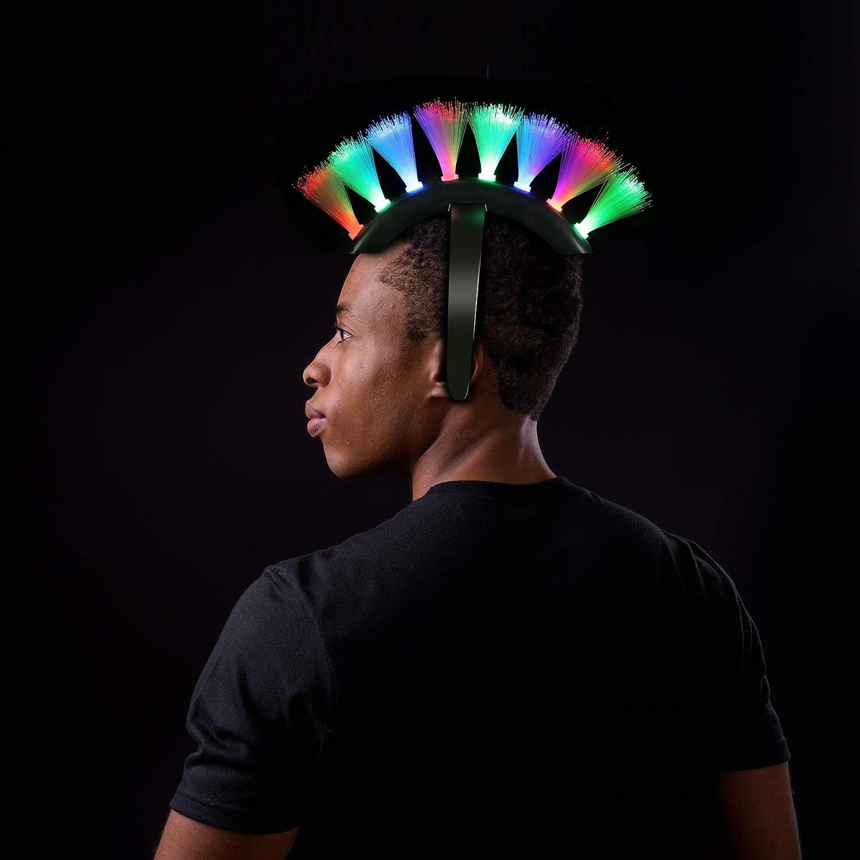 Fun Central LED Light Up Fiber Optic Mohawk Wig Headband for Women /& Men