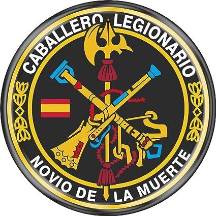 Artimagen Pegatina c/írculo Logo legi/ón Color y Laurel /ø 70 mm.