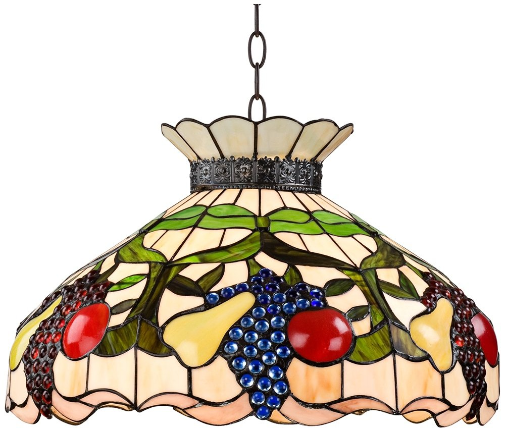 meyda style mahogany tiffany pd pendant shop stained dome bronze hardwired in single baroque glass