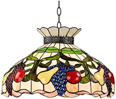 chandelier decorative chandeliers glass light style stained tiffany p shade