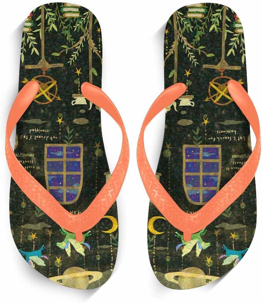 Chad Hope Mens Beach Sandals Comfortable Anti-Slip Flip Flops