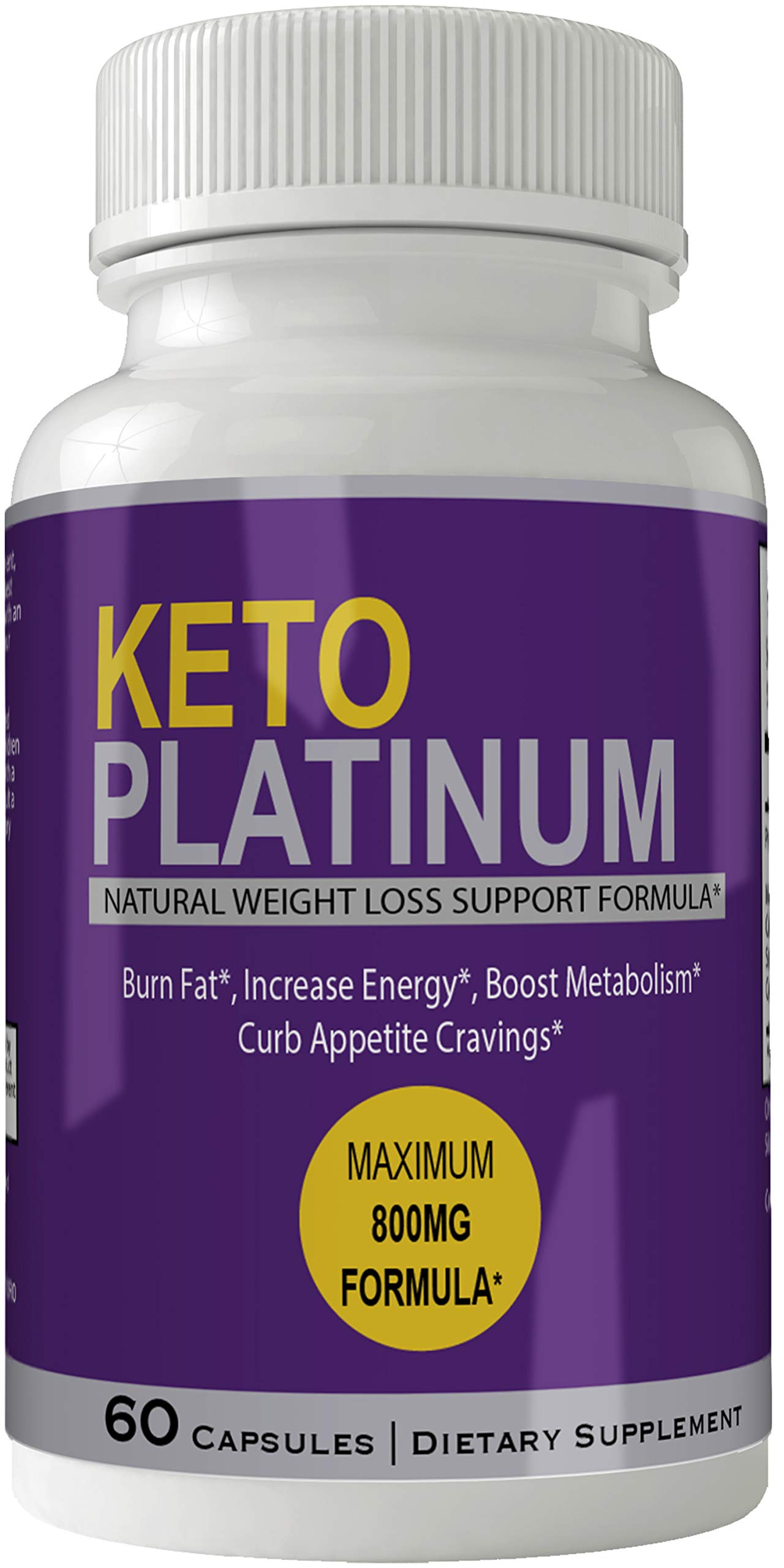 Keto Platinum Pills Advance Weight Loss Supplement Appetite Suppressant Natural Ketogenic 800 mg Formula with BHB Salts Ketone Diet Capsules to Boost Metabolism, Energy and Focus