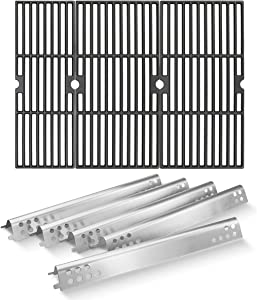 Utheer Grill Parts for Charbroil Performance 5 Burner 463347519, 475 4 Burner 463347017, 463673017, 463376018P2 Liquid Propane, Grill Cooking Grid Grates 18 inch, Heat Plates Tent Shield 16.97 inch