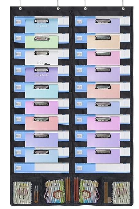 homyfort Tabla de Bolsillo de Almacenamiento para Colgar Organizador de Archivos – Soporte de Pared revistero