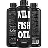 Wild Fish Oil, Omega-3 DPA, DHA, EPA FOS Certified, Super Strength 1,120mg Pure Omega-3, Batch Tested, Natural Lemon…