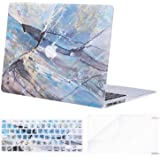 MOSISO MacBook Air 11 Inch Case A1370 & A1465,Pattern Plastic Hard Shell Case & Keyboard Cover & Screen Protector Compatible with MacBook Air 11 Inch, Abstract Irregularity Scrawl Blue