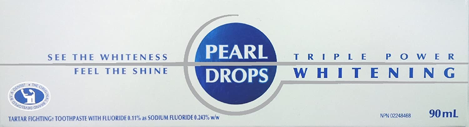 Pearl Drops Triple Power Whitening Toothpaste, 90ml