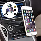 Car Mount, Asscom® MagGrip CD Slot Magnetic Universal Car Mount Holder (Black) for the Samsung Galaxy S6 S6 Edge, Apple iPhone 7 7plus, 6s 6s plus, 6 6Plus, 5S 5C 5 4S 4, Samsung Galaxy S5 S4 S3 S2, HTC One M7 M8 M9, Nokia Lumia 920 and all Smartphone within 3.5~5.8inches