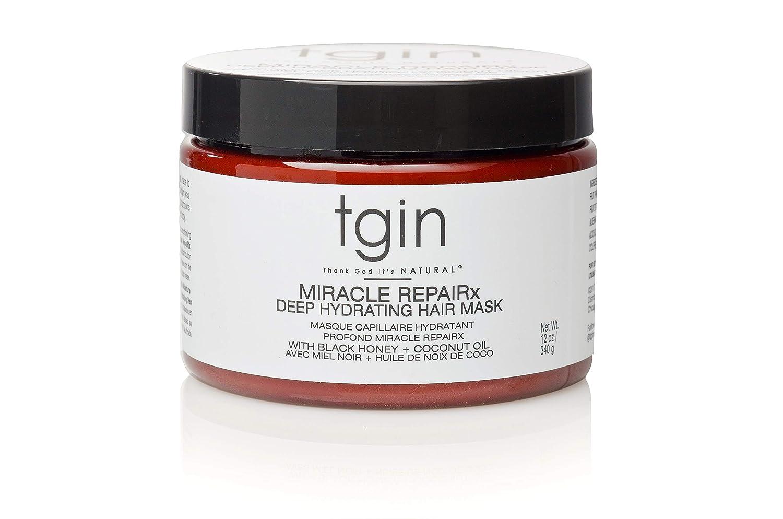 tgin Miracle Repairx Deep Hydrating Hair Masque For Natural Hair - Dry Hair - Curly Hair - 12 Oz