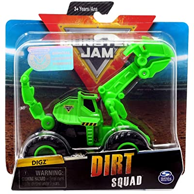 Monster Jam Dirt Squad DIGZ True Metal: Toys & Games