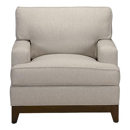 Ethan Allen Arcata Chair, Hailey Natural Textured Fabric