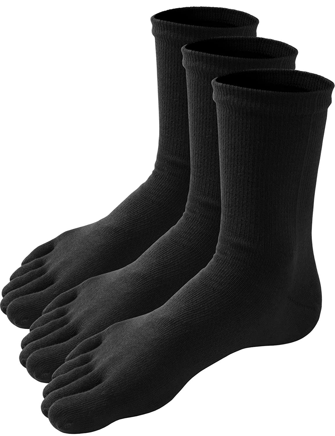 HASLRA Men's Excellent Stretch Comfort Crew Toe Socks 2-6 Pairs
