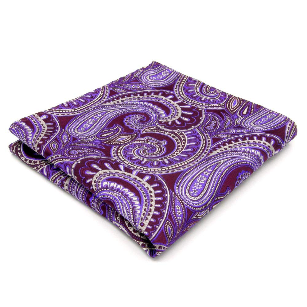 Shlax&Wing Purple Paisley Handkerchieves Mens Neckties Hanky Pocket Square Shlax & Wing KH12
