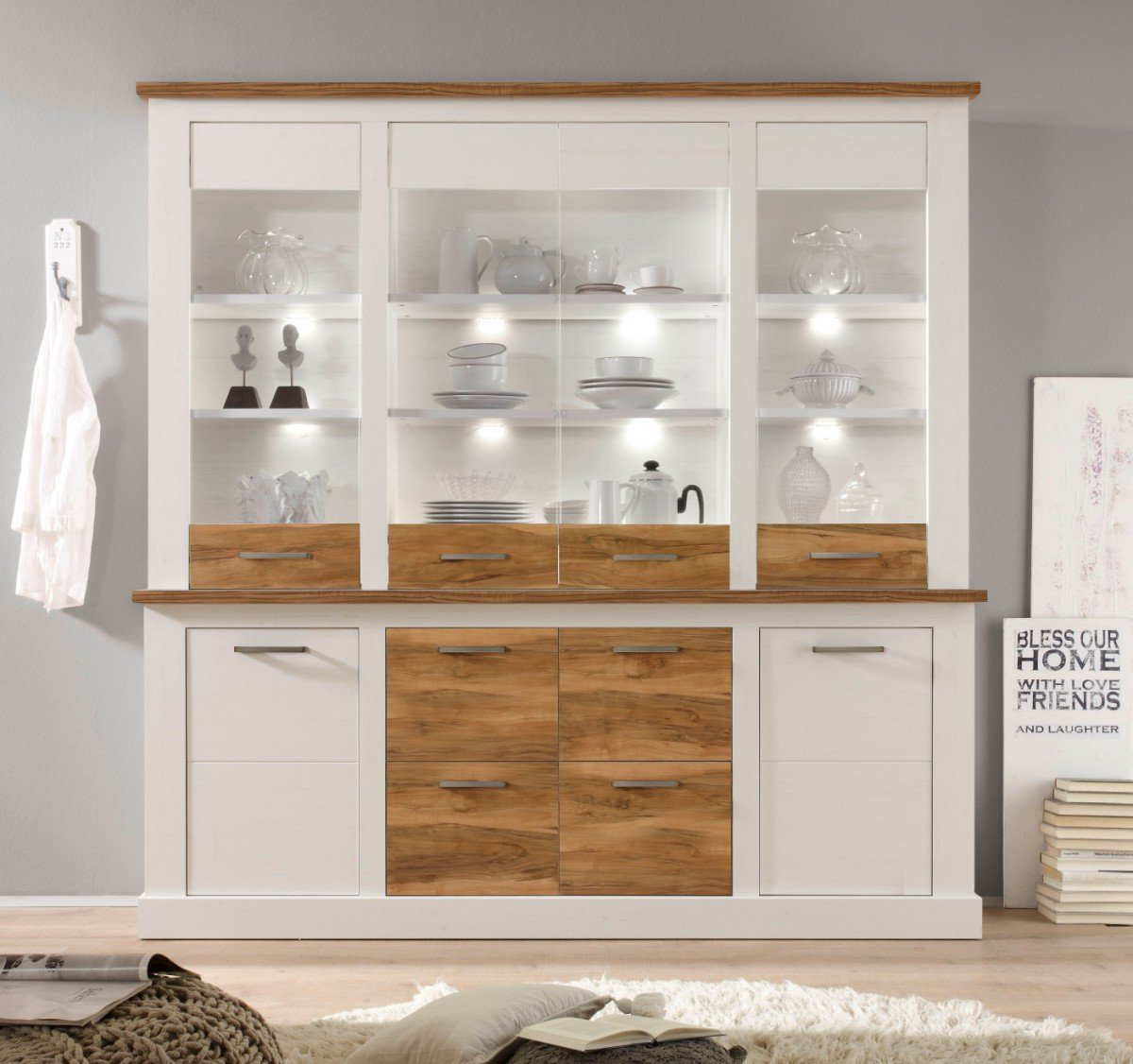 Dreams4Home Buffet U0027Lancaster IIu0027, Schrank Vitrine Wohnelement Wohnzimmer  Esszimmer Küche In Anderson Pine