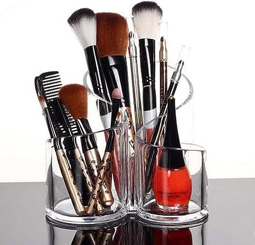 PuTwo Oraganizador Maquillaje Acrílica Grande Capacidad Estuche Caja Maquillaje Redondo: Amazon.es: Hogar