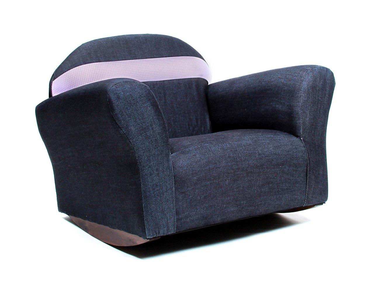 Amazon Com Keet Bubble Rocking Kid S Chair Denim Blue Baby