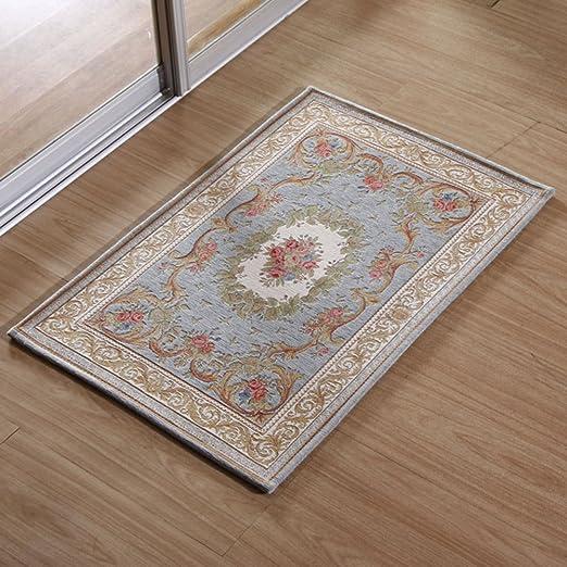lujoso estilo europeo felpudos Pasillo alfombra de baño recibidor cocina sala puerta corredera puertas puerta mat-E 40x60cm(16x24inch): Amazon.es: Hogar