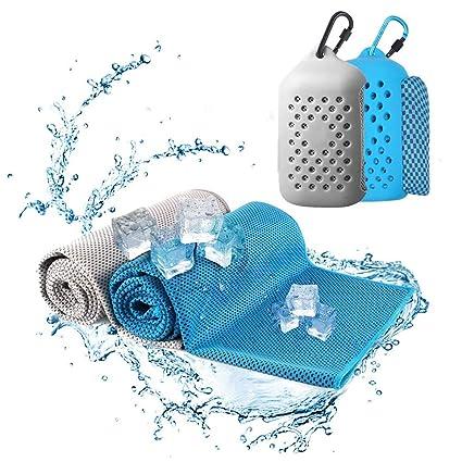 Cuker Toalla de refrigeración, instantánea, toalla de hielo de microfibra para el cuello fresco