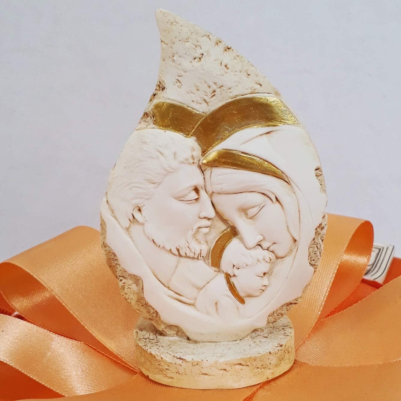 Torta bomboniere Icone sacre Santa Cresima e Sacra Famiglia per Ragazzo e Ragazza Torta da 11 fette con Cuori argentati Sacra Famiglia