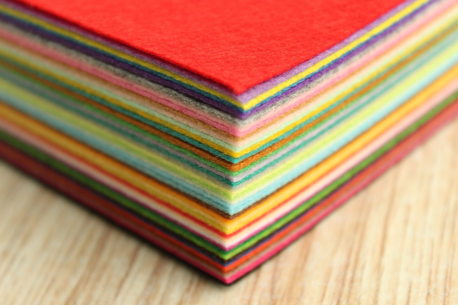 Life Glow DIY Polyester Stiff Felt Fabric Squares Sheets Assorted Colors 12x12 inch for Crafts, 1mm Thick 40Pcs by Life Glow (Image #4)