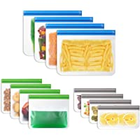 Vicloon Bolsas de Silicona Reutilizables, 12 Pack Bolsas Congelar Reutilizables para Almacenamiento de Alimentos, Bolsas…