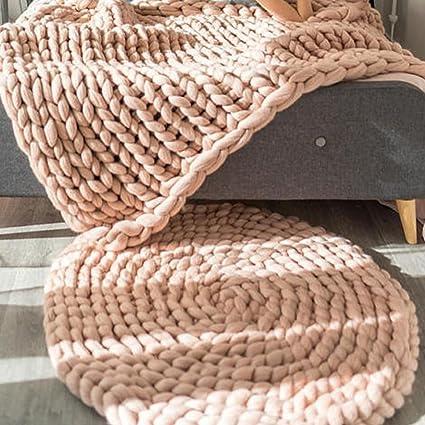 Amazoncom Diameter 40in Hand Knit Merino Wool Crochet Round Rug