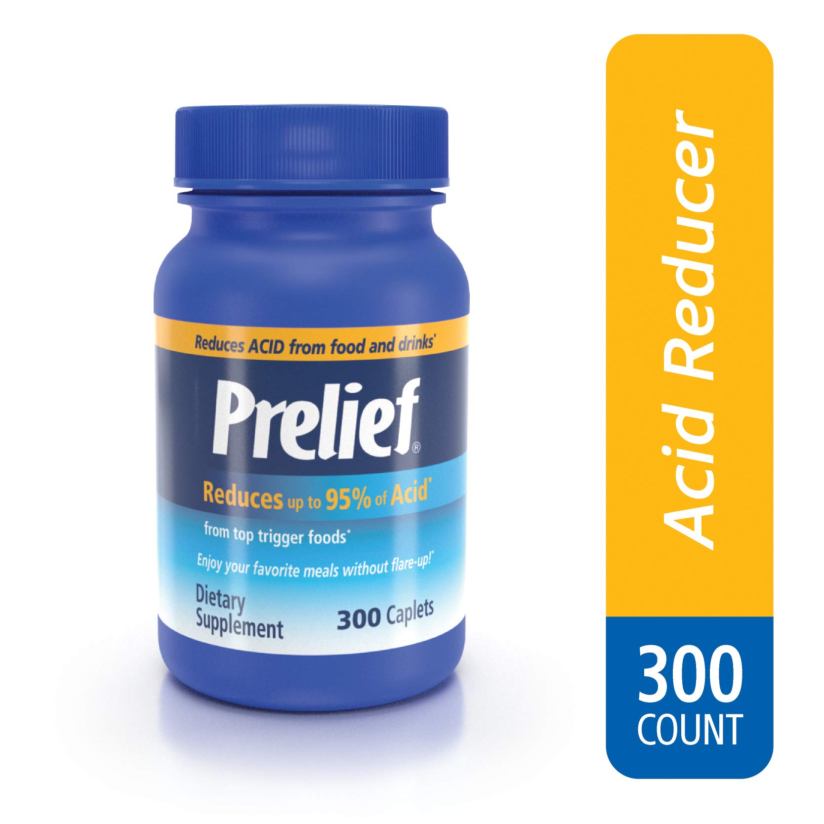 Prelief Acid Reducer Dietary Supplement Caplets, 300 Count by PRELIEF